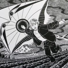 Konstnär Peller Engman - Martin och draken