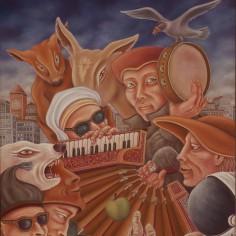 Konstnär Peller Engman - Tamburin