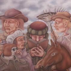 Konstnär Pelle Engman - Frun